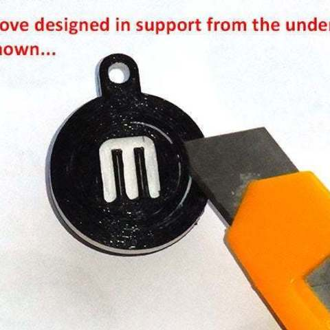 support_1_display_large.jpg Télécharger fichier STL gratuit Porte-clés rotatif / Fob.... avec logo MakerBot tournant ! • Objet pour imprimante 3D, Muzz64