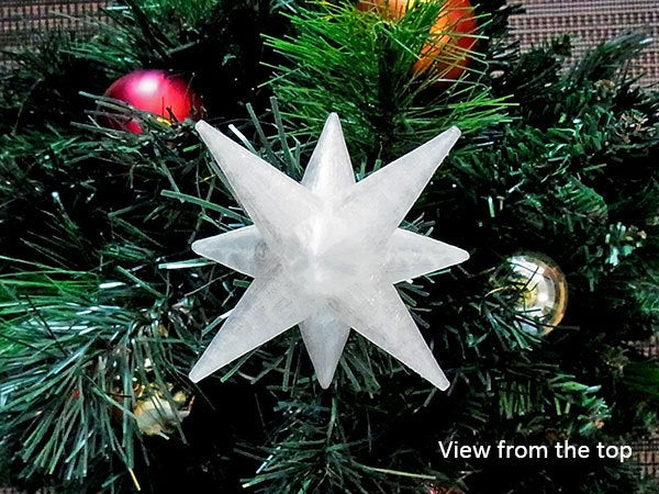 cstar_02_display_large.jpg Download free STL file Christmas Star - For the top of your Christmas Tree! • 3D printer template, Muzz64