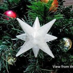 Download free STL file Christmas Star - For the top of your Christmas Tree! • 3D printer template, Muzz64