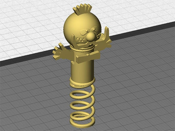 zebedee_2_display_large.jpg Download free STL file Zebedee -  From The Magic Roundabout (Wobbles on the spring and arms that go up and down) • Object to 3D print, Muzz64