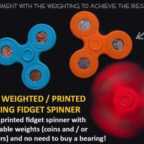 Descargar archivo 3D gratis Fidget Spinner ponderado con monedas ajustables, Muzz64