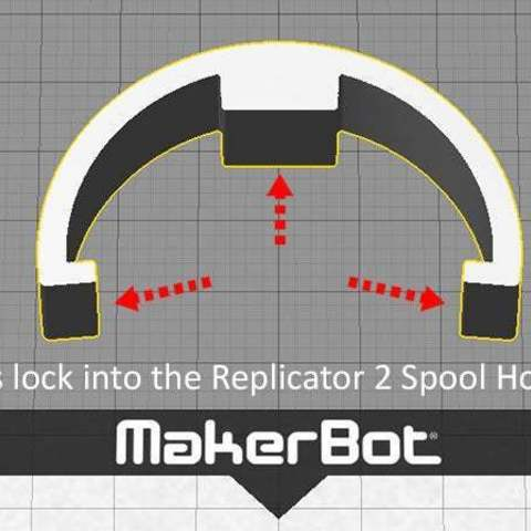 R2_5G_display_large.jpg Download free STL file Replicator 2 Spool Spacer - for MakerBot 900gm Spools • 3D printable design, Muzz64