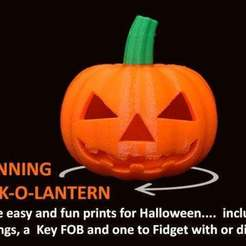 Download free 3D printer model Spinning Jack-o-Lantern, Muzz64