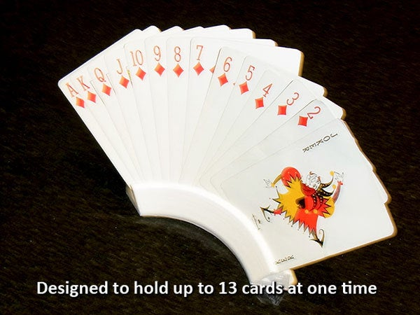 cardholder_2_display_large.jpg Download free STL file Playing Card Holder - Holds your cards for you while you play! • 3D printing template, Muzz64
