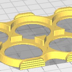 Round_32mm_movement_tray_5_slots_front2back_grips.png Télécharger fichier STL gratuit Plateau de mouvement rond de 32 mm 5 fentes avant2 arrière • Design imprimable en 3D, seanbaker408