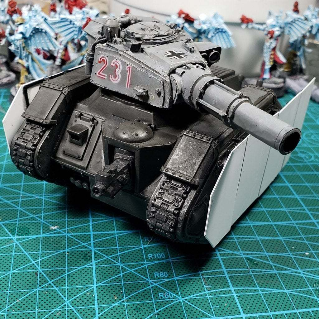 Download Free Stl File Removable Tank Skirt For Leman Russ 3d Printing Object Cults