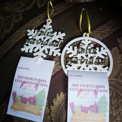 Download STL file Ornament Christmas tree with wish list, objetoimpreso
