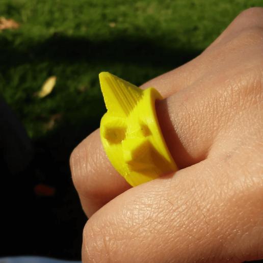 Imprimir en 3D gratis ring puntas anillo, objetoimpreso