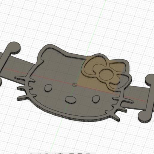 Descargar archivos 3D Correa de la máscara de Hello Kitty, estuar_sandoval