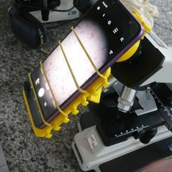 Download free 3D printing designs Microscope cell support - Suporte de celular para microscópio, fabiomingori