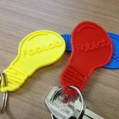 Download free 3D printer model Lamp FabLab locksmith keychain, fabiomingori