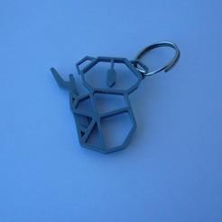 P1090552.JPG Download free STL file locksmith - Chaveiro - keychain - koala • 3D printing model, fabiomingori