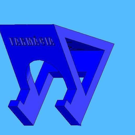 farmacia5.jpg Télécharger fichier STL gratuit Cours de pharmacie de soutien par téléphone portable - Suporte para celular Farmácia • Objet à imprimer en 3D, fabiomingori
