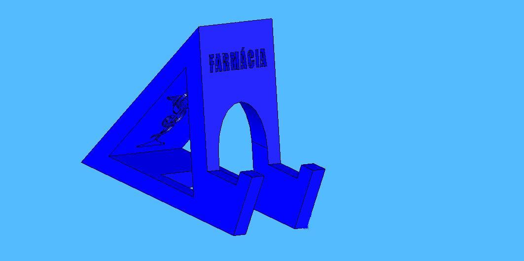 farmacia2.jpg Télécharger fichier STL gratuit Cours de pharmacie de soutien par téléphone portable - Suporte para celular Farmácia • Objet à imprimer en 3D, fabiomingori