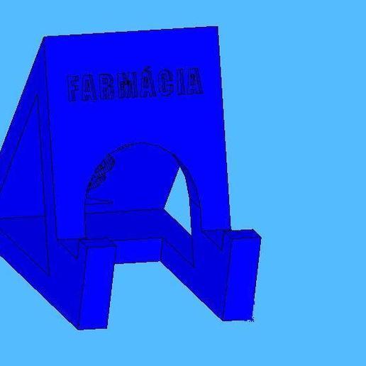 farmacia1.jpg Télécharger fichier STL gratuit Cours de pharmacie de soutien par téléphone portable - Suporte para celular Farmácia • Objet à imprimer en 3D, fabiomingori