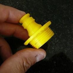 Download free 3D printing files conector 1 inch water pump - conector 1 polegada, bomba de água, fabiomingori