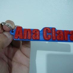 Download free 3D printer files Ana Clara locksmith - Chaveiro - keychain, fabiomingori