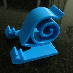 Download free 3D printer designs Cell phone support naruto - Suporte para celular, fabiomingori