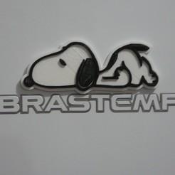 Download free 3D printing templates Snoopy refrigerator magnet - Imã de Geladeira, fabiomingori