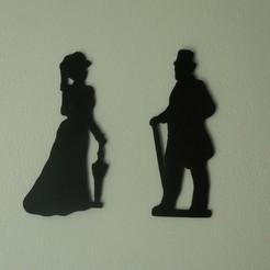 Descargar modelos 3D gratis señora y caballero letrero del baño de la dama y el caballero, fabiomingori