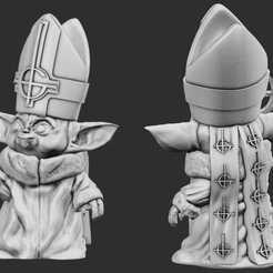 Descargar modelo 3D Bebé Yoda Emérito, mraaronhorton