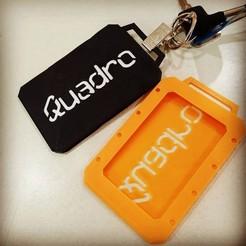 Download free 3D printer designs Quadro ID tag, year1984wee
