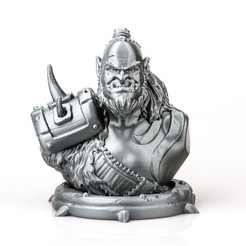 Download 3D printing models Zefrong the Orc, Wekster