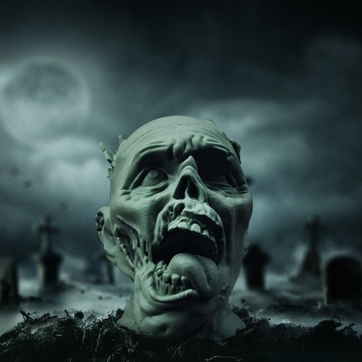 Download 3D printing models Zombie Head, Wekster