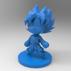 Télécharger objet 3D Goku SSJ Chibi, rapbena
