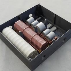 4.JPG Télécharger fichier STL Boite de Rangement pour 4 Wagons Bâchés ROCO HO • Modèle pour imprimante 3D, Dadal_37