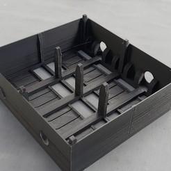1.JPG Télécharger fichier STL BOITE DE RANGEMENT POUR 4 WAGONS TREMIES REE HO • Modèle imprimable en 3D, Dadal_37
