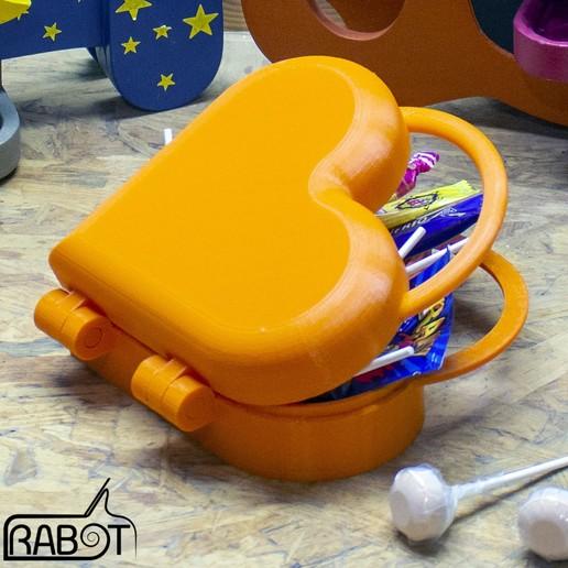 Télécharger fichier STL gratuit Boite valise coeur • Design pour imprimante 3D, Rabot