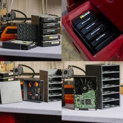 Télécharger fichier STL gratuit Rangement pour disque dur - hard drive storage • Plan pour impression 3D, Rabot