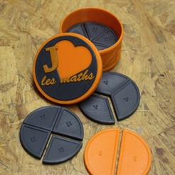 Download free STL file Learning fractions • 3D printing object, Rabot