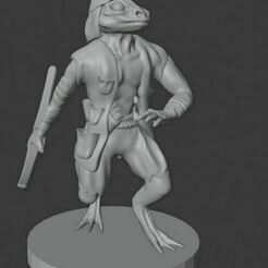 swollen eye.JPG Download free STL file Lizardfolk Rouge • 3D printable design, gabrieljspangler