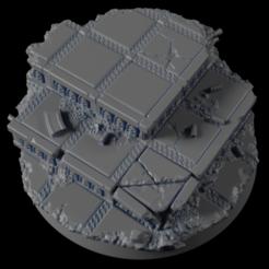50mm-Base-Urban-02.png Télécharger fichier STL gratuit 50mm Base Urbaine 02 • Modèle imprimable en 3D, Ilumin4tus