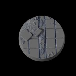 32mm-Base-Urban03-i01.png Télécharger fichier STL gratuit 32mm-Base-Urbam-03 • Plan à imprimer en 3D, Ilumin4tus