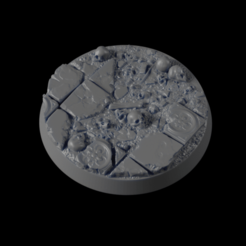 40mm-Base-Mud-02-i01.png Download free STL file 40mm-Base-MUD-02 • 3D print model, Ilumin4tus
