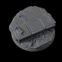40mm-Base-Urban-01.jpg Télécharger fichier STL gratuit 40mm Base Urbaine 01 • Modèle pour impression 3D, Ilumin4tus