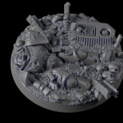 50mm-Base-Urban-01.png Download free STL file 50mm Base Hero 01 • Design to 3D print, Ilumin4tus