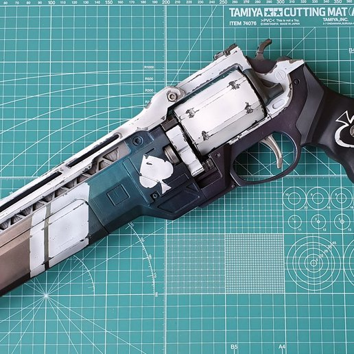 Download 3D printer designs Ace of spades Hand cannon 3D print model, vlasenkov_a