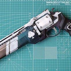 Download 3D printer designs Ace of spades Hand cannon 3D print model, vlasenkov_a