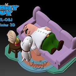 Download 3D printer designs Family Guy (Griffin)  Model Printing Miniature Assembly File STL-OBJ for 3D Printing FDM-FFF DLP-SLA-SLS, Cody3D