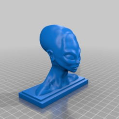 Download free 3D printer designs Alien Bust Figurine Reproduction Alien found in the 50s in South America, Cody3D
