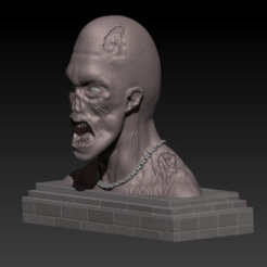 Cattura2.PNG Download free STL file Zombie Bust Printing Gaming Miniature | Assembly • 3D printer object, Cody3D