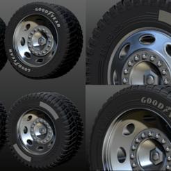 1.1.png Télécharger fichier STL pneus à jante de camion, fichier STL deux versions Goodyear et Michelin • Design pour impression 3D, Cody3D