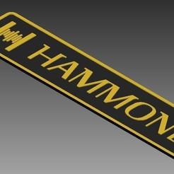 Download 3D model HAMMOND ORGAN LOGO, MycroG