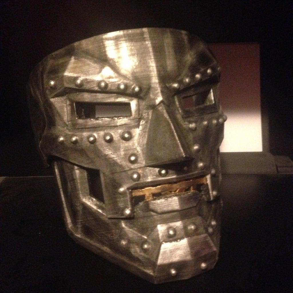 photo_doom_display_large.jpg Télécharger fichier STL gratuit Dr Doom Mask • Modèle pour imprimante 3D, Crackers3D4D