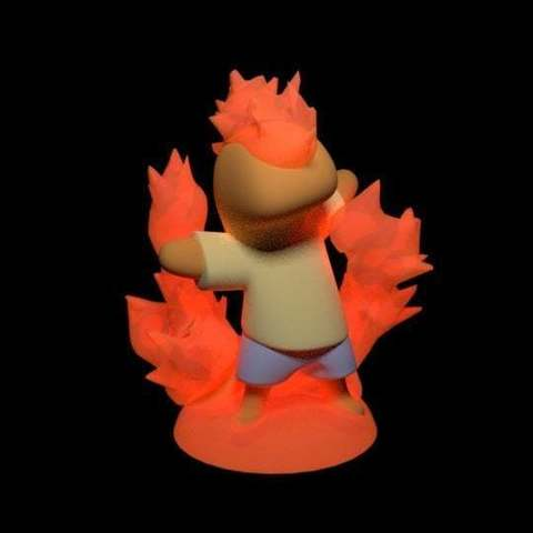 Download free STL file Salamander, the Fairy of fire, Crackers3D4D