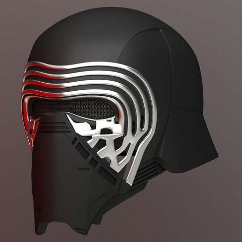 Download free 3D printer designs Kylo Ren Helmet, Crackers3D4D